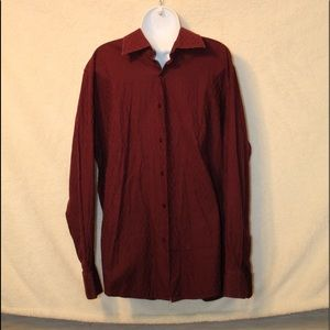 Inc. Men's Maroon Button Down Dress Shirt